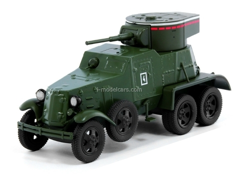 GAZ-AAA BA-6 Military Armored Car USSR 1:43 DeAgostini Service Vehicle #67