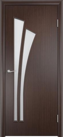Дверь Сибирь Профиль Лагуна (С-7), цвет венге 3D, остекленная