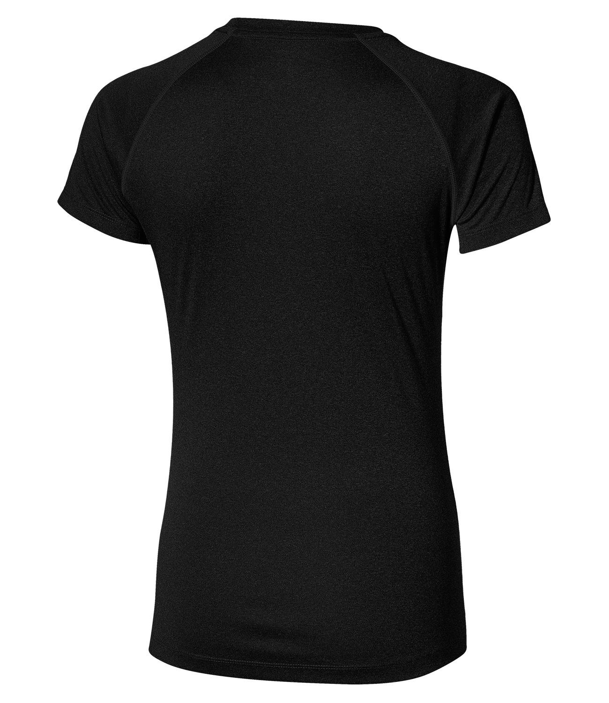 Женская спортивная беговая футболка асикс Stripe SS Top (126232 0905) черная