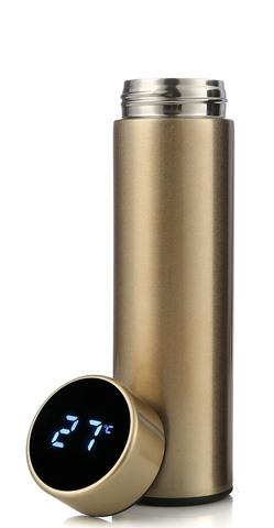 Умный термос с датчиком температуры 500 мл золотой