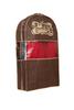 Чехол для одежды двойной  короткий 100х60х20, Париж, Горький Шоколад