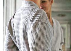 Халат вафельный Blanc des Vosges серый