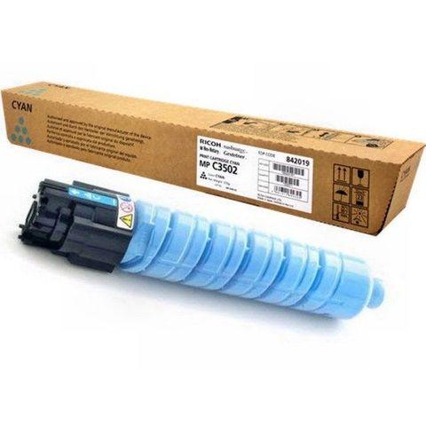 Тонер-картридж Ricoh тип MPC3502E голубой для Ricoh Aficio MPC3002/C3502. Ресурс 18000 стр (842019)