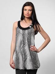 10-3168 блузка женская, черно-белая