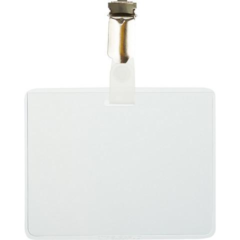 Бейдж 90х60мм DURABLE металл клип (5шт) ?8603