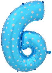 К Цифра, 6 и 9, Синий, 40''/102 см. 1 шт.
