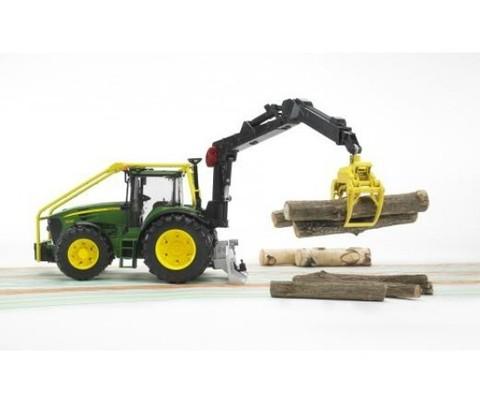 Bruder: Трактор John Deere 7930 лесной с манипулятором, 03-053