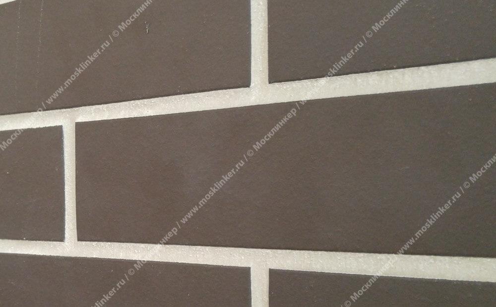 Stroeher, фасадная клинкерная плитка, цвет 330 graphit, серия Keravette, unglasiert, неглазурованная, гладкая, 240x52x8