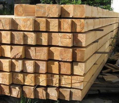 Брус 150х150х6000 мм, сорт 1, свежий лес, ГОСТ