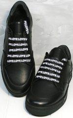 Стильные черные кроссовки женские Rifelini by Rovigo 121-1 All Black