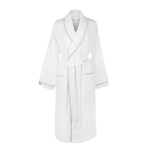 Элитный халат кашемировый Qashmare contrast белый от Hamam