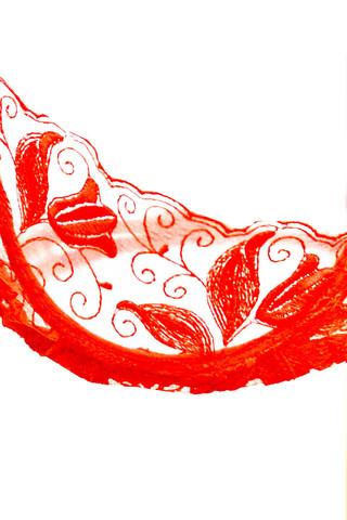 Эротический комплект белья с ажурными узорами