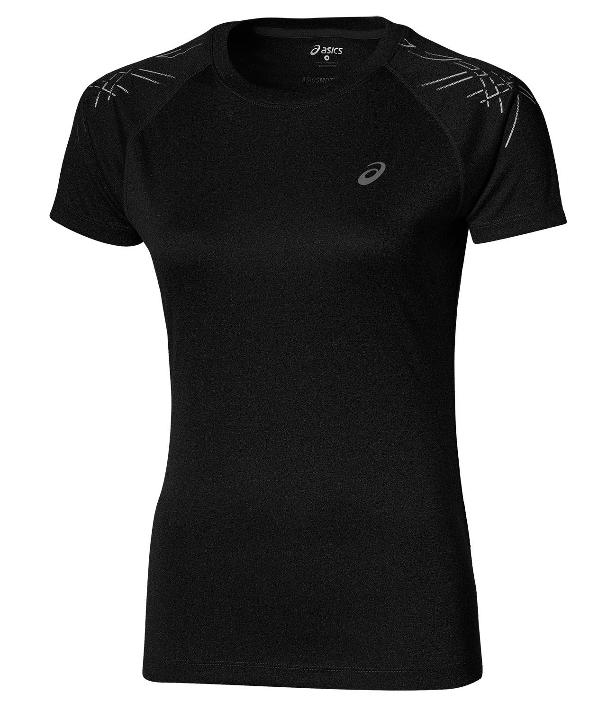 Женская футболка для бега Asics Stripe SS (126232 0905) черная