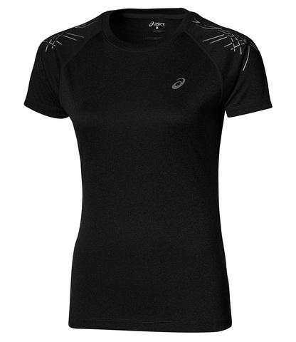 ASICS STRIPE SS TOP женская спортивная футболка черная