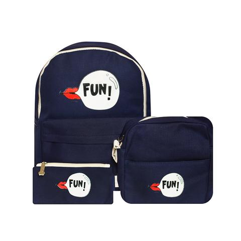 Рюкзак, сумка и кошелек Fun Navy