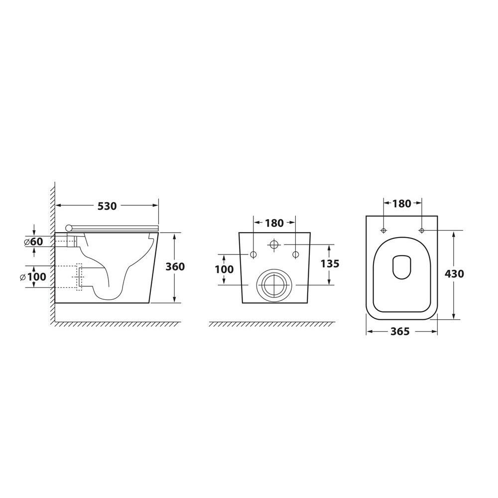 Унитаз подвесной безободковый OWL Vatter Ruta-H с сиденьем DP микролифт