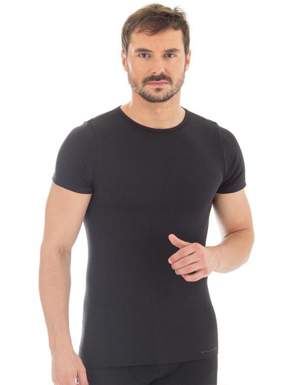 Мужская термофутболка Brubeck Comfort Wool (SS11290) черная