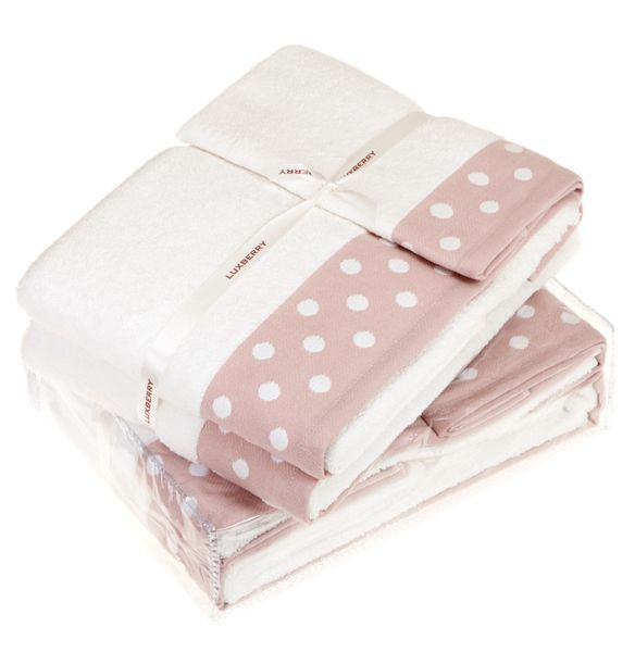 Полотенце 70х140 Luxberry Pretty Dots розовое