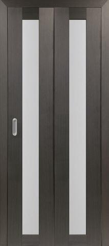 > Экошпон складная Optima Porte Турин 501.2  (2 полотна), стекло матовое, цвет венге, остекленная