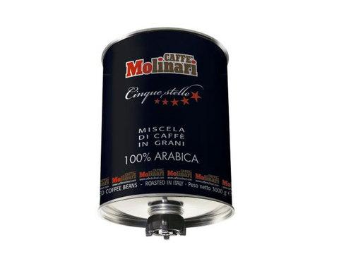 Кофе в зернах Molinari CINQUE STELLE 100% арабика, 3 кг