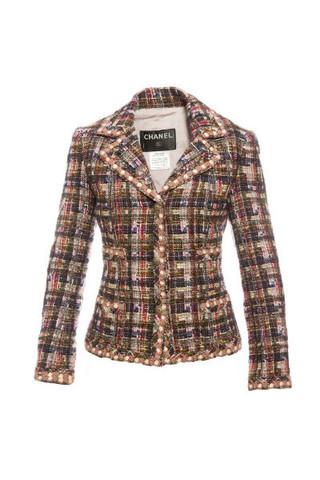 Стильный пиджак из многоцветного твида от Chanel, 42размер