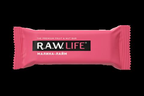 Батончик R.A.W. LIFE Малина — Лайм 47 гр