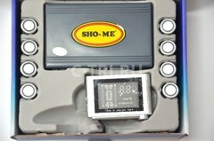 Парковочный радар Sho-Me Y-2612N-08 Silver (флюор.дисплей), комп.