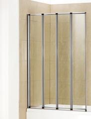 Стеклянная шторка на ванну Welt-Wasser WW 100ZA4 90