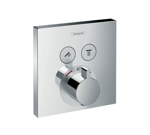 Термостат с двумя запорными вентилями Hansgrohe 15763000 ShowerSelect
