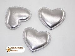 Мягкие сердечки серебряные
