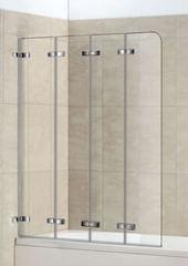 Стеклянная шторка на ванну Welt-Wasser WW 100ZD4 100 см