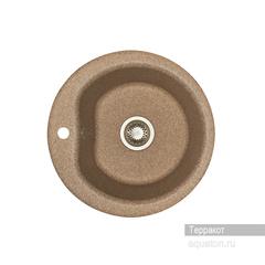 Мойка Акватон Мида 1A712732MD270 для кухни из искусственного камня, терракотовая