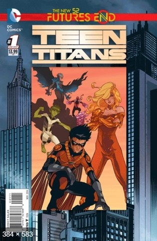 Futures End Teen Titans Lenticular Cover