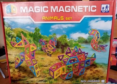 Конструктор магнитный Мagic Мagnetic 60 дет JH 6888А