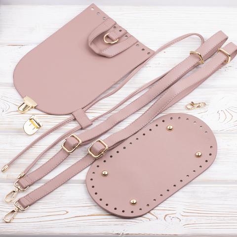 """Комплект для рюкзачка из эко-кожи """"Розовый"""""""