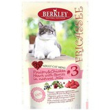 BERKLEY FRICASSEE Adult Cat POULTRY & CHICKEN HEARTS WITH BERRIES IN NATURAL JELLY — Беркли фрикасе для взрослых кошек Птица с куриными сердечками и ягодами в желе 12х100 г. (75272)