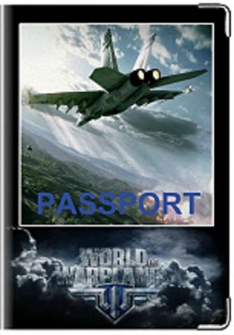 """Обложка для паспорта """"Word of war planes"""" (1)"""