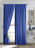 Mild (синий). Готовые шторы.