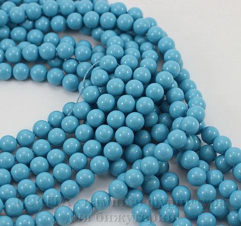 5810 Хрустальный жемчуг Сваровски Crystal Turquoise круглый 6 мм, 5 штук