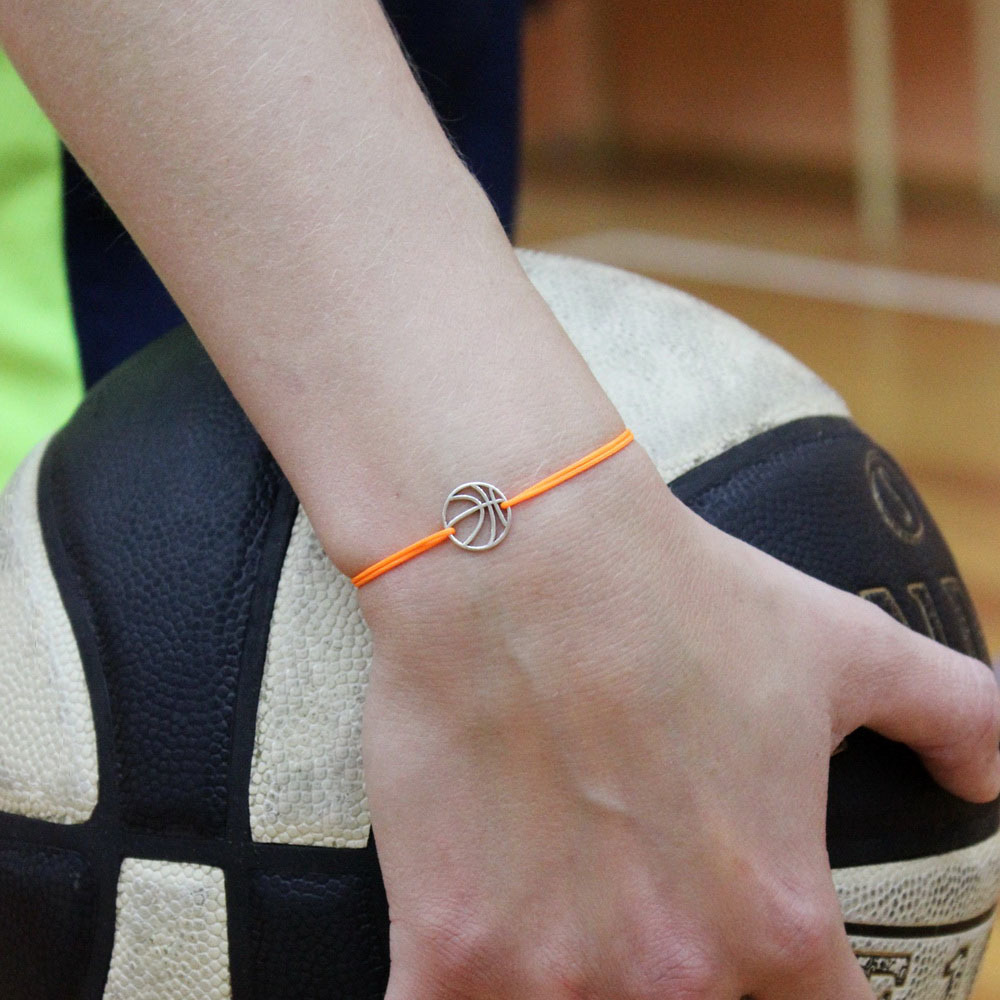 Basketball Bracelet, sterling silver
