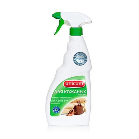 Средство для чистки и ухода за изделиями из кожи  UNICUM 500мл