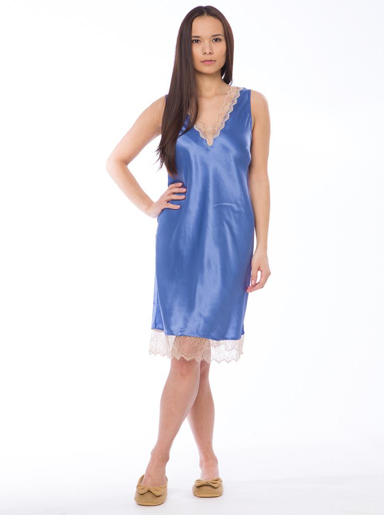 ebbfc9ba6fc34b8 Шелковая женская сорочка Twin-Set — Нежная одежда