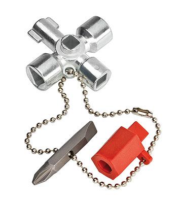 Ключ для электрошкафов с битой и переходником Knipex KN-001102