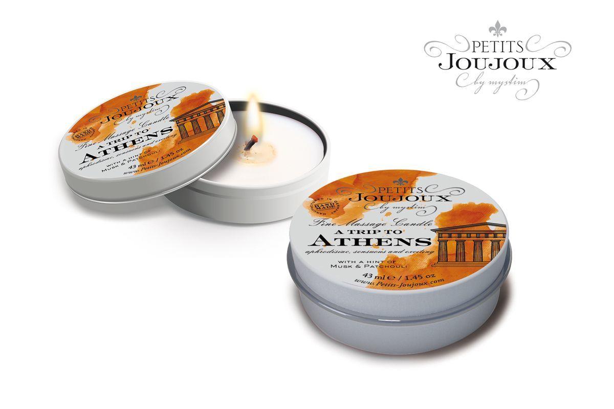Массажные масла и свечи: Массажная свеча Petits Joujoux Athens с ароматом муската и пачули - 33 гр.