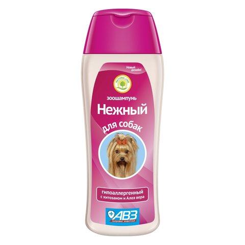 АВЗ Нежный зоошампунь для собак гипоаллергенный с хитозаном и алоэ Вера 270мл