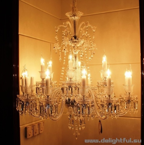 replica  BACCARAT ZÉNITH CHANDELIER ( 12 lights  + clear )