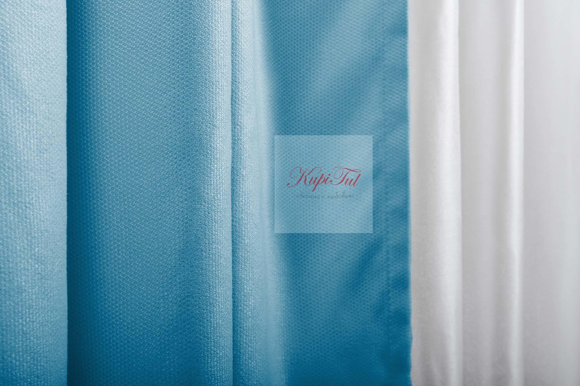 Готовая штора Ницца (морская волна)