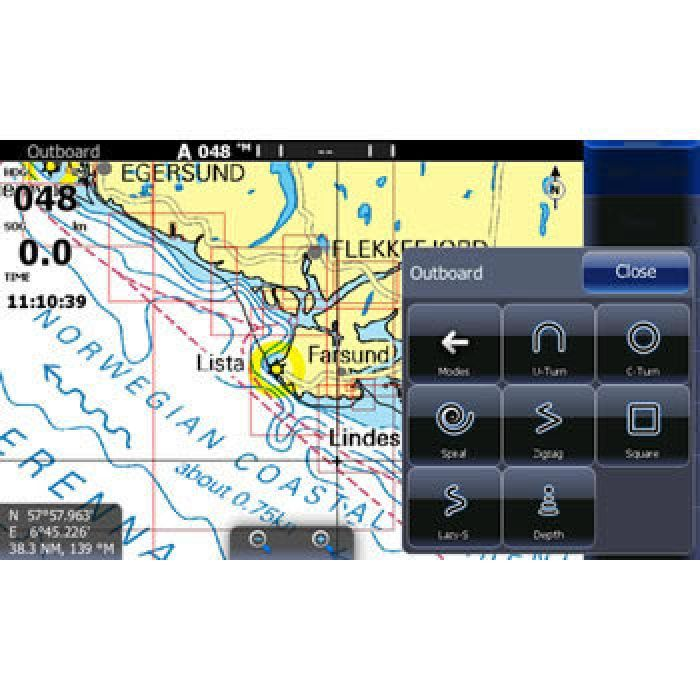 Управление с экрана Lowrance Outboard Pilot Hydraulic Pack