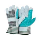 Перчатки спилковые  комбинированные усиленные  Докер (коробка - 120 пар/упак12пар)