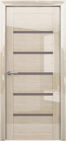 Дверь Фрегат ALBERO Вена, стекло мателюкс бронза, цвет глянец мокко, остекленная